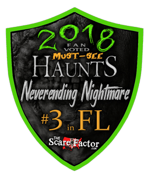 Scare Factor 2018 Fan Voted Must-See Haunts - #3 in Florida